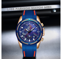 LIGE Casual Sport Watches for Men Blue Top