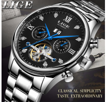LIGE2019 Classic Mens Watches Business Automatic Mechanical