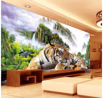 Photo Wallpaper 3D Tiger Nature Landscape Mural Chinese Style Classic
