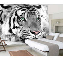 Free Shipping Customized Black And White Tiger Animals 3D Wallpaper Mural Living Room Sofa TV