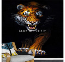 Custom 3D Mural Wallpaper Modern Simple Animal Tiger Photo Wall Papers Restaurant Living Room
