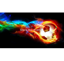 Custom 3D Wall Mural Wallpaper Modern Abstract Art Color Stripes Flame Football Designs Living Room