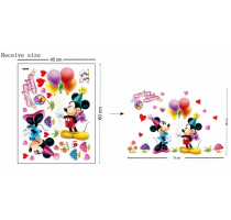 Hot Mickey Mouse Minnie mouse wall sticker children room nursery decoration
