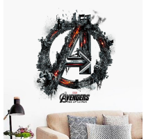 The Super Hero Figures Avengers 3D Vinyl Wall Stickers For Kids Rooms Pvc Wall Decals Home Decor Boy's room