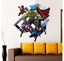 Avenger Wall Sticker 3D Baby Kids Room Stickers Cartoon Decals Home