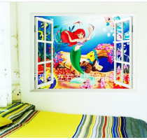 NEW design 3d window Princess cartoon Wall Stickers Removable