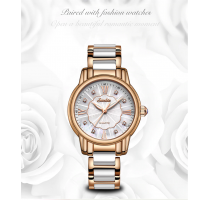 SUNKTA Luxury Watches Diamond Watch Women Waterproof Rose Gold