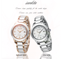 New SUNKTA Fashion Women Watches Silver Ladies Bracelet Watch