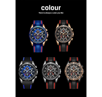 LIGE Mens Watches Top Brand Luxury Silicone Strap Watch